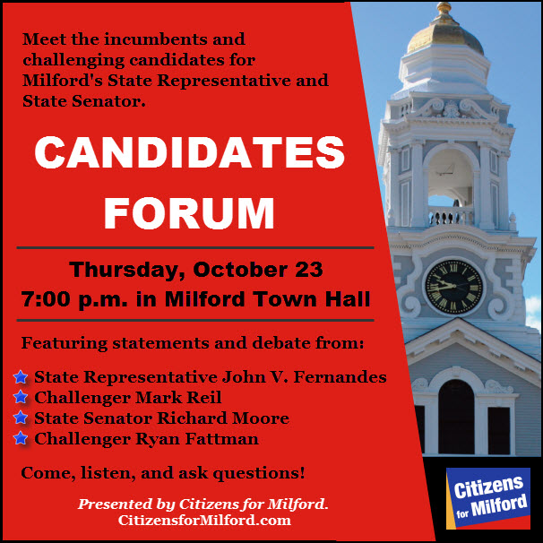 Candidates Forum Info Graphic with Stars