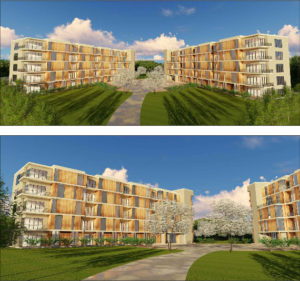 Perspective Views of the Proposed Robsham Village Apartment Complex