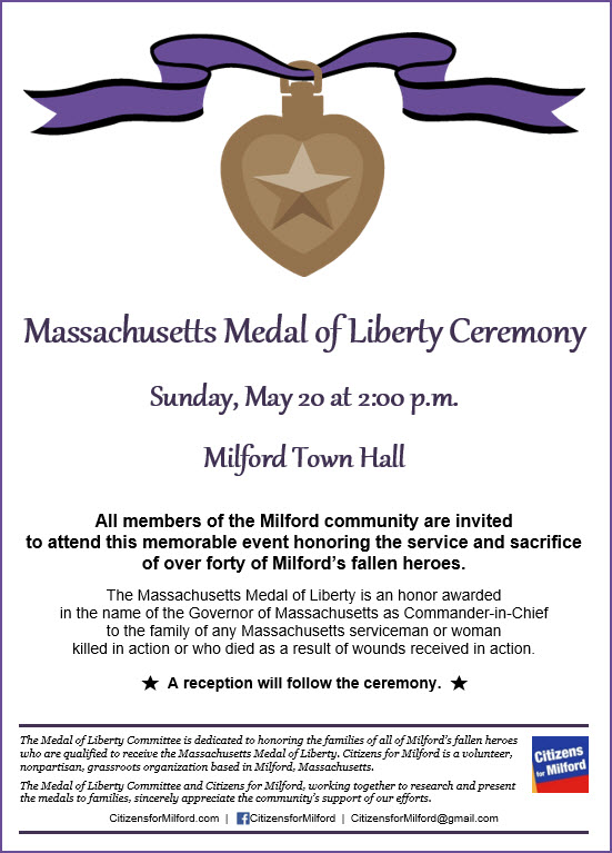 2018 Medal of Liberty Ceremony | Citizens for Milford